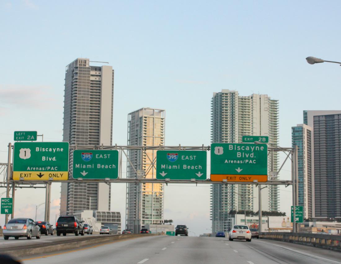 navigeren in Miami